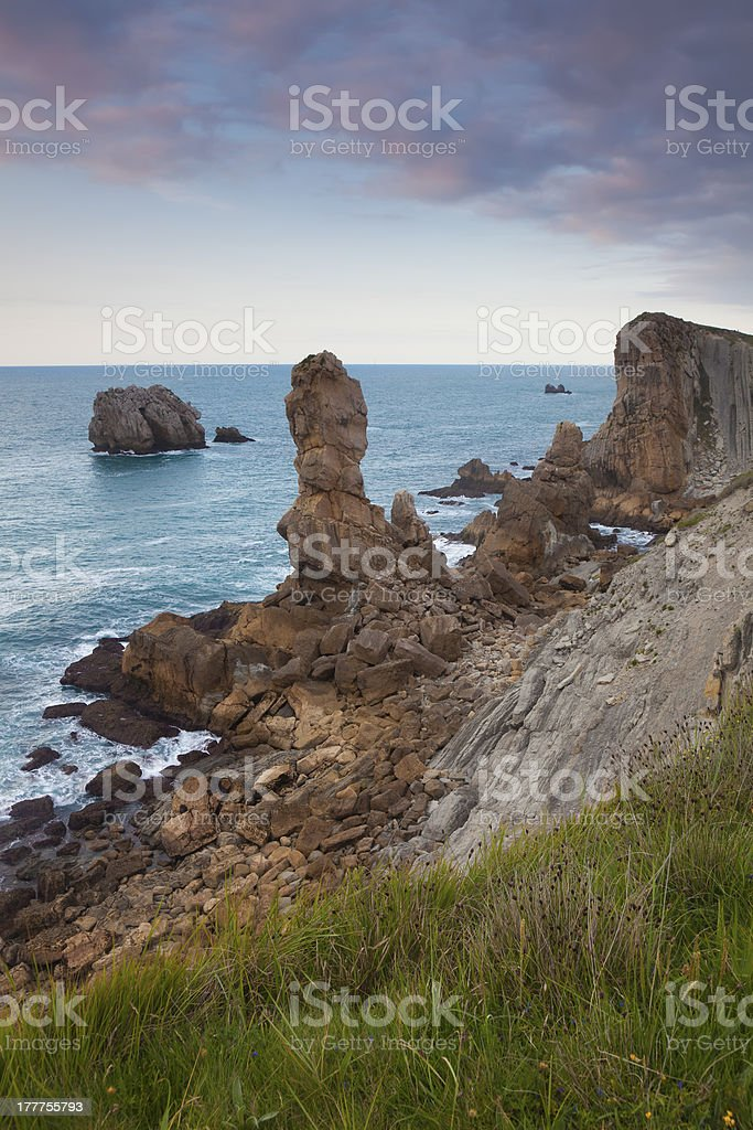 The Urros, Liencres, Cantabria royalty-free stock photo