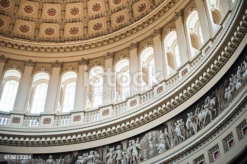 istock The US Capitol Dome, Interior, Washington DC 615613034