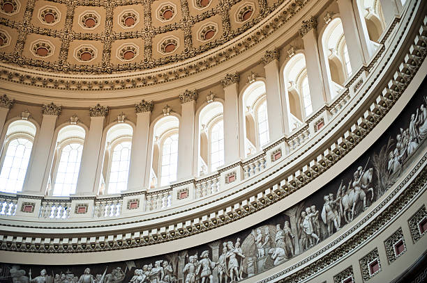 The US Capitol Dome, Interior, Washington DC A detailed interior view of the US Capitol Building dome Washington DC state capitol building stock pictures, royalty-free photos & images