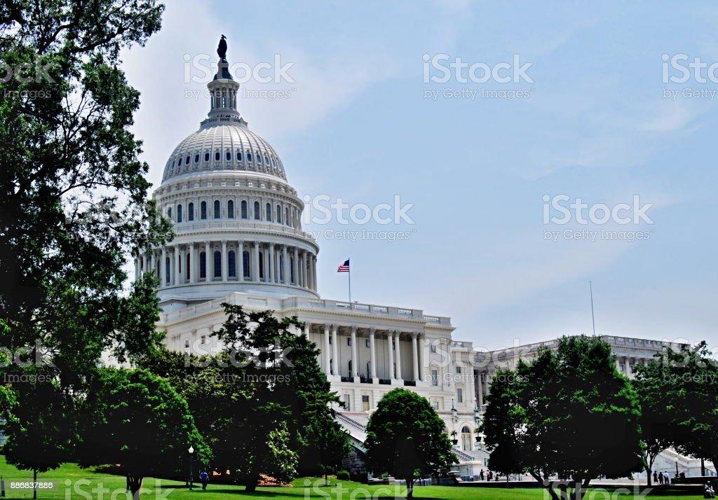 The US Capitol in Washington DC Landscape stock photo