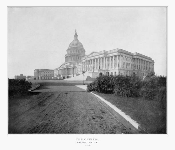 The U.S. Capitol, Washington, D.C., United States, Antique American Photograph, 1893 Antique American Photograph: The U.S. Capitol, Washington, D.C., United States, 1893: Original edition from my own archives. Copyright has expired on this artwork. Digitally restored. 1900 stock pictures, royalty-free photos & images