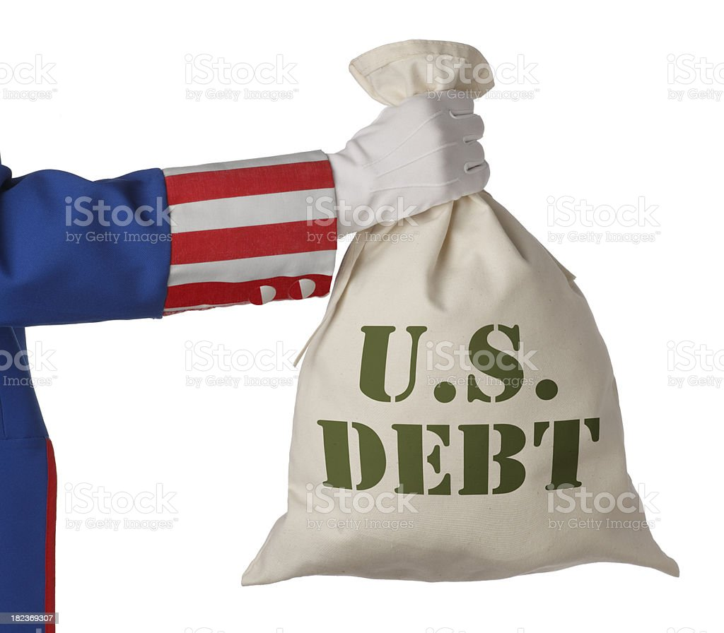 The U.S. Debt royalty-free stock photo
