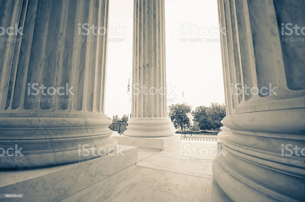 The US Supreme Court and Capitol Building - Washington DC stock photo