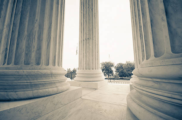 The US Supreme Court and Capitol Building - Washington DC  state capitol building stock pictures, royalty-free photos & images