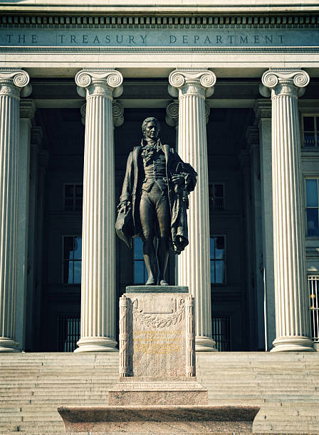 The US Treasury Department stock photo