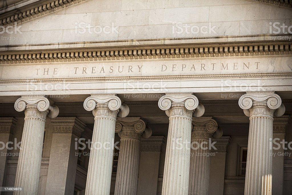 The US Treasury Department, Washington DC royalty-free stock photo