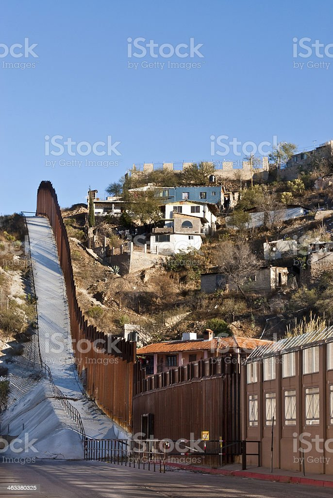 USA - Mexico Border Fence stock photo