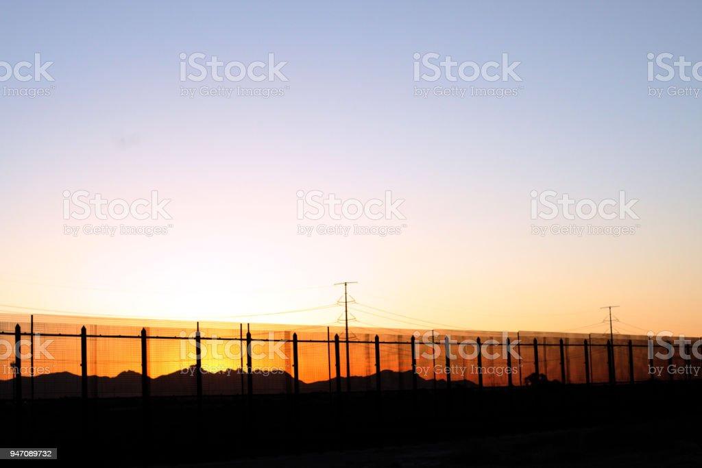 The U.S/Mexico Border Beauty stock photo