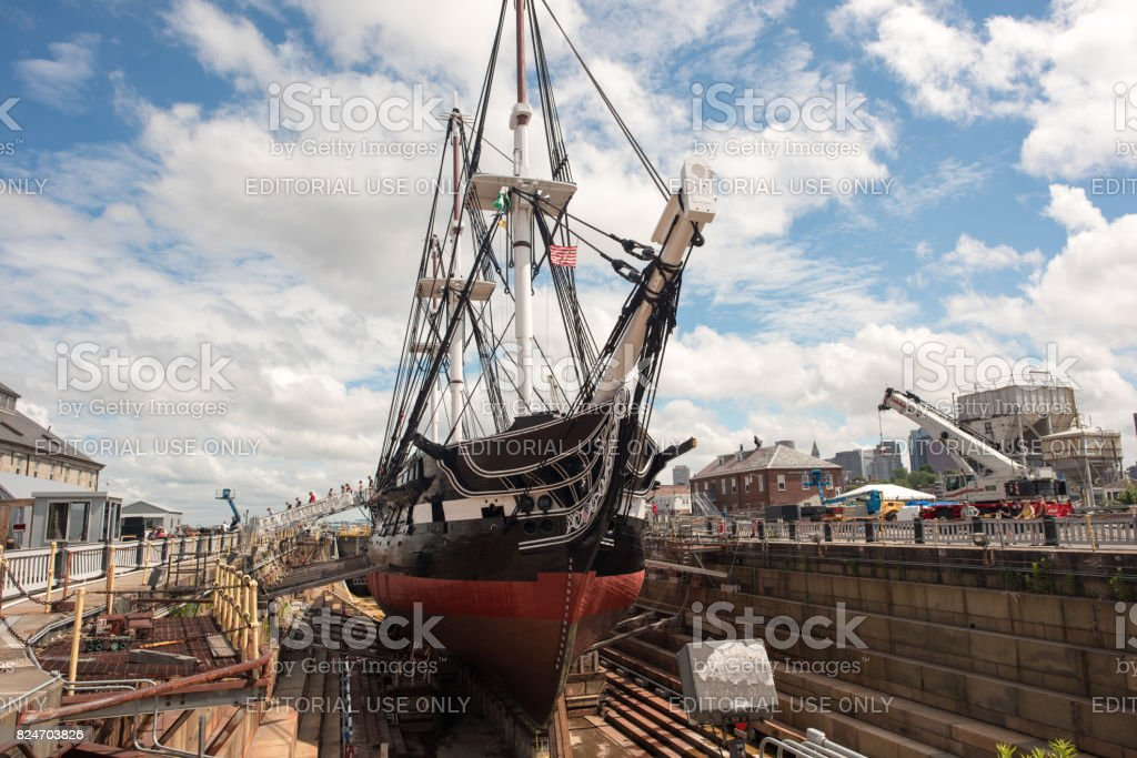 The USS Constitution stock photo