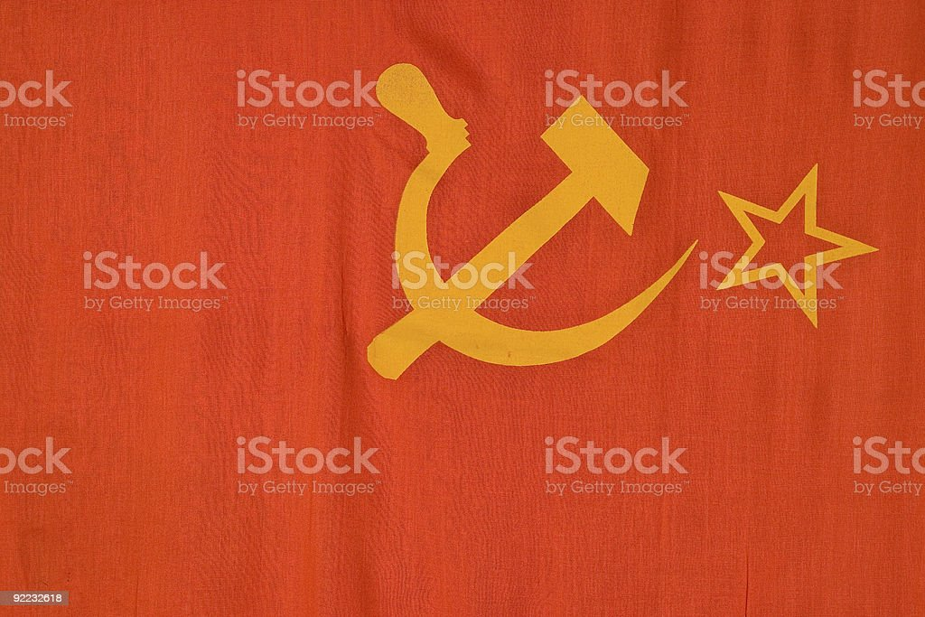 the USSR flag royalty-free stock photo
