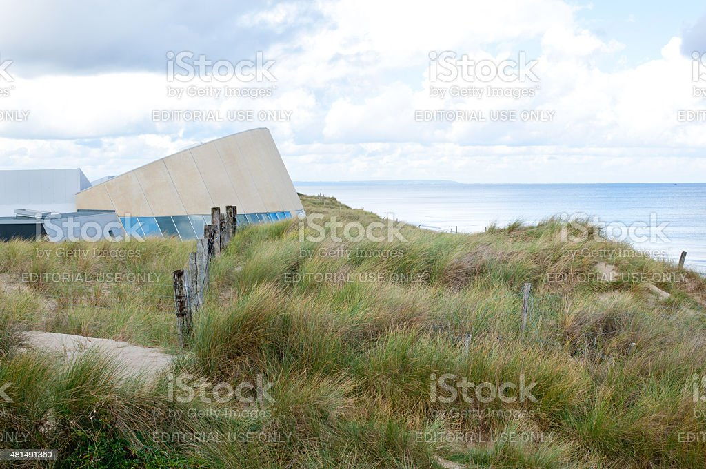 The Utah Beach D-Day Museum, Normandy, France. stock photo