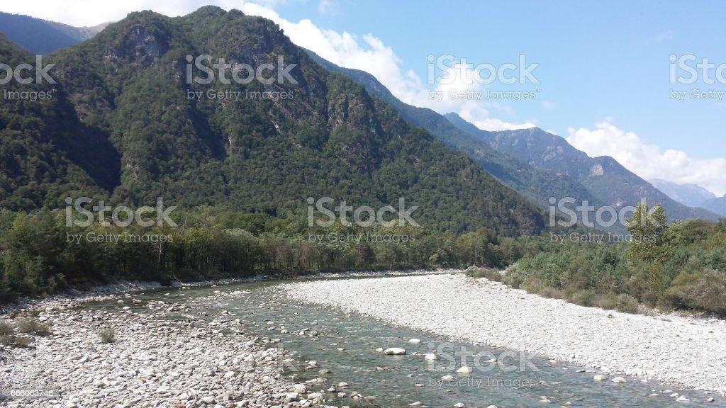 The Valle Maggia stock photo