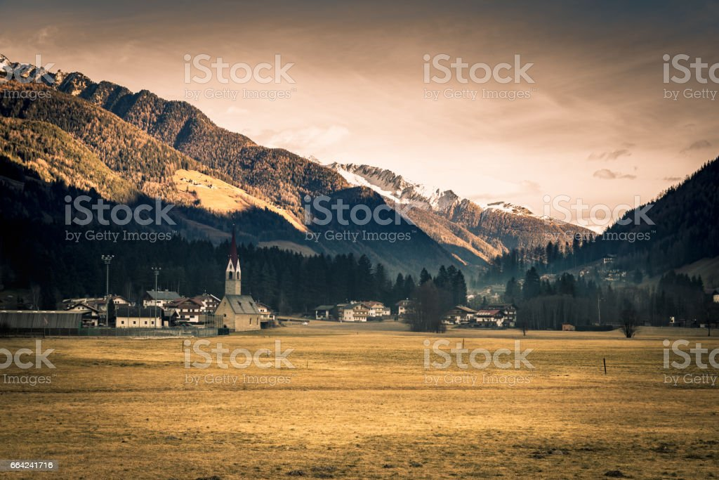 The Valley Aurina is among the most authentic and genuine mountain valleys of South Tyrol. stock photo