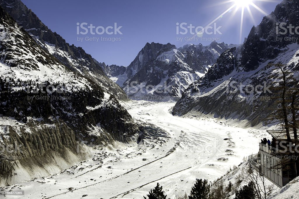 The Valley Blanche, Chamonix stock photo