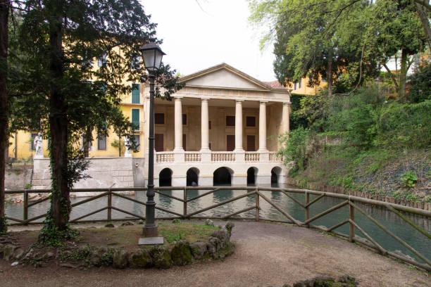 The Valmarana loggia in Vicenza, Italy dated 1592 attributed to Palladio. stock photo