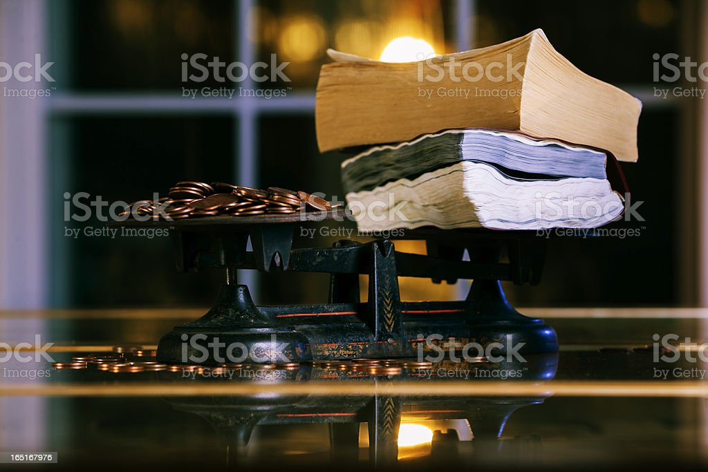 the value of knowledge stock photo