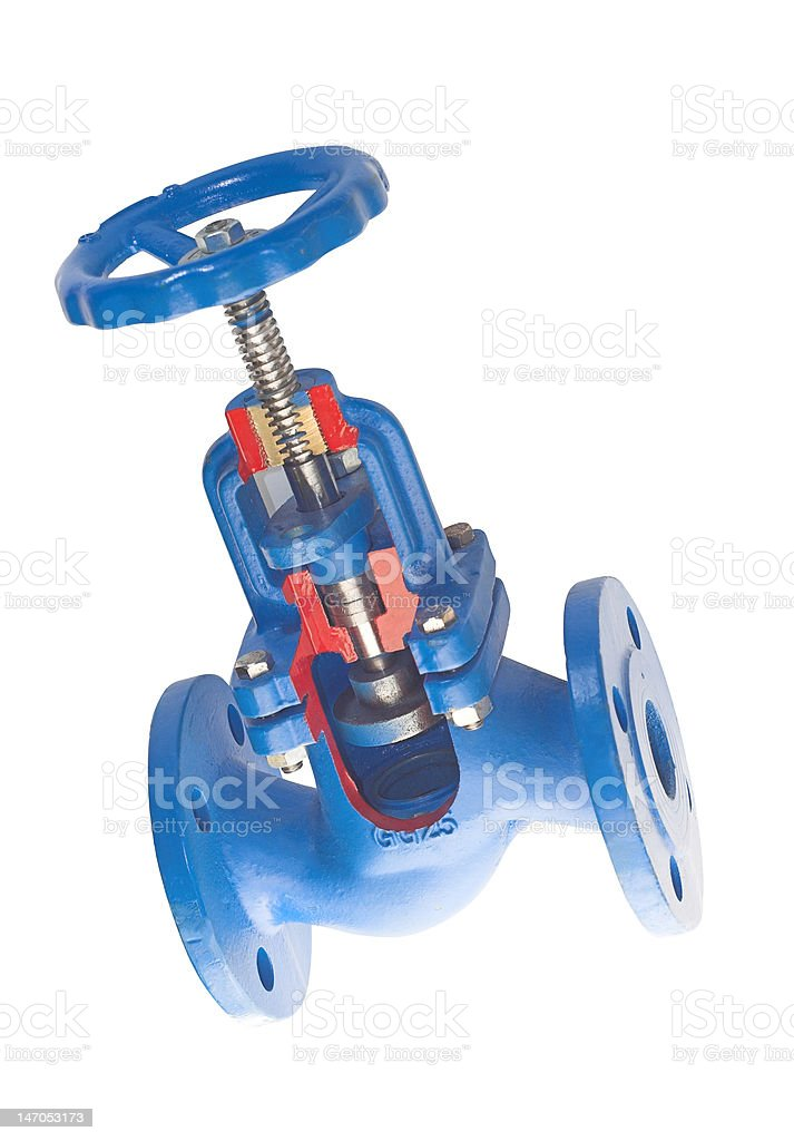 The valve section in isometric view royalty-free stock photo