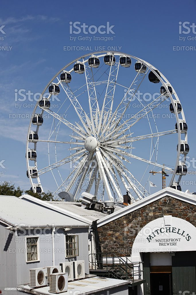The V&A Waterfront in Cape Town observation wheel section stock photo