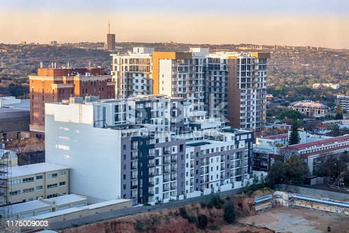 The Vantage apartments in Rosebank next to the Rosebank Mall in Johannesburg.  Johannesburg is one of the forty largest metropolitan cities in the world, and the world's largest city that is not situated on a river, lakeside, or coastline. It is also the source of a large-scale gold and diamond trade, due being situated in the mineral-rich Gauteng province.