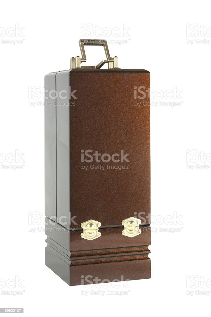The varnished decorative casket isolated royalty-free stock photo