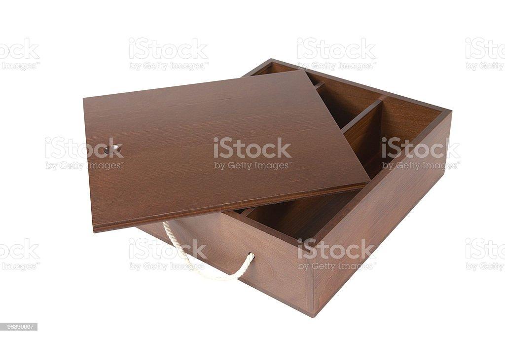 Il decorativo isolato casket verniciato foto stock royalty-free