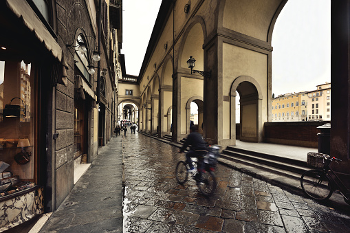 The Vasari Corridor, Ponte Vecchio, Florence, Italy