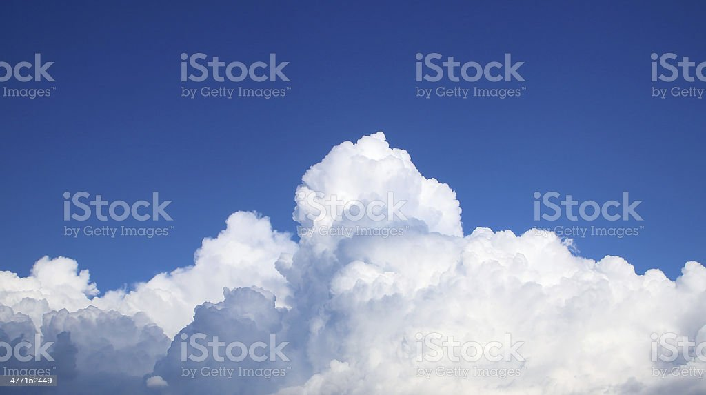 The vast blue sky and clouds royalty-free stock photo