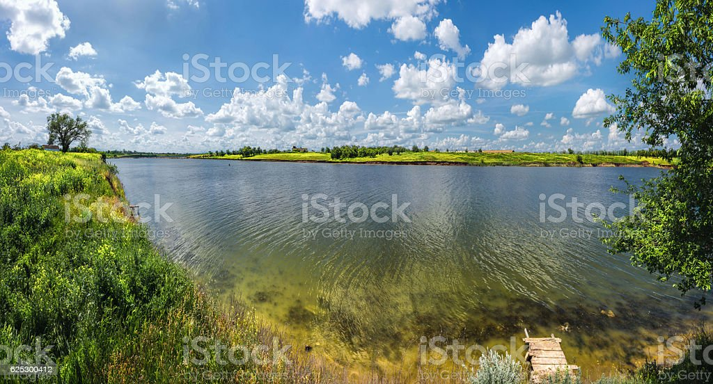 The vastness of the Russian steppe of mother earth stock photo