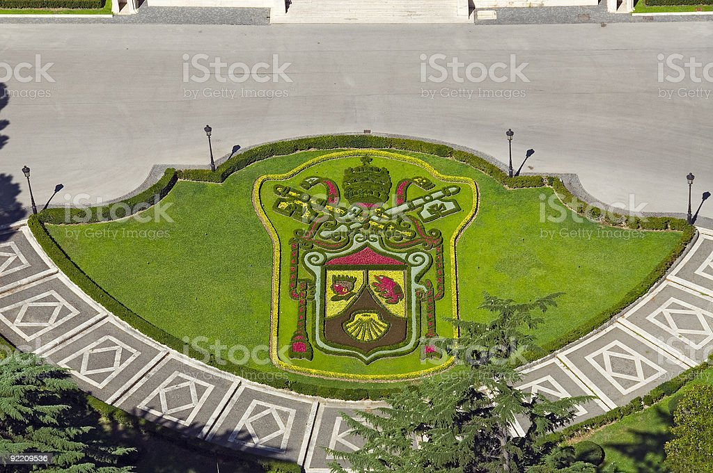 the vatican coat of arms stock photo