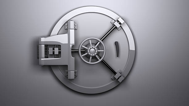 The Vault closed 3D render of a large vault. safe security equipment stock pictures, royalty-free photos & images