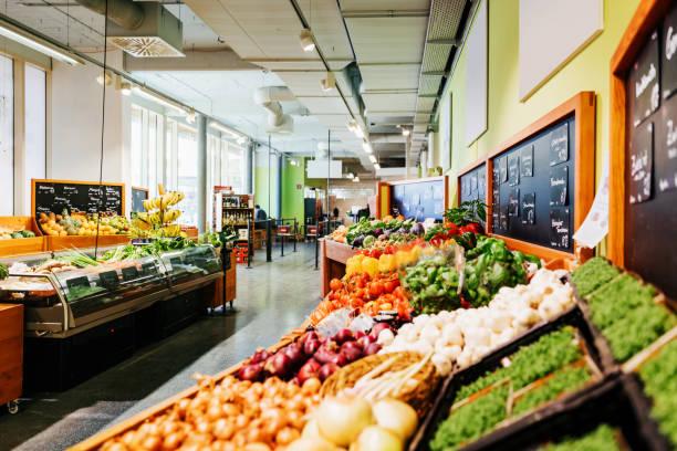 Der Gemüsegang im Supermarkt – Foto
