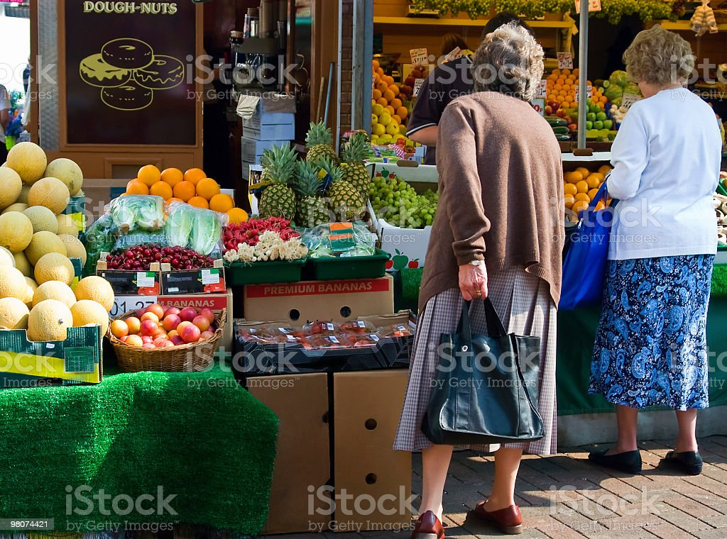 The vegetable market, Doncaster, England royalty-free stock photo