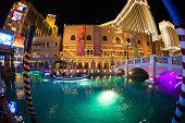 The Venetian Hotel and Casino in Las Vegas at Night