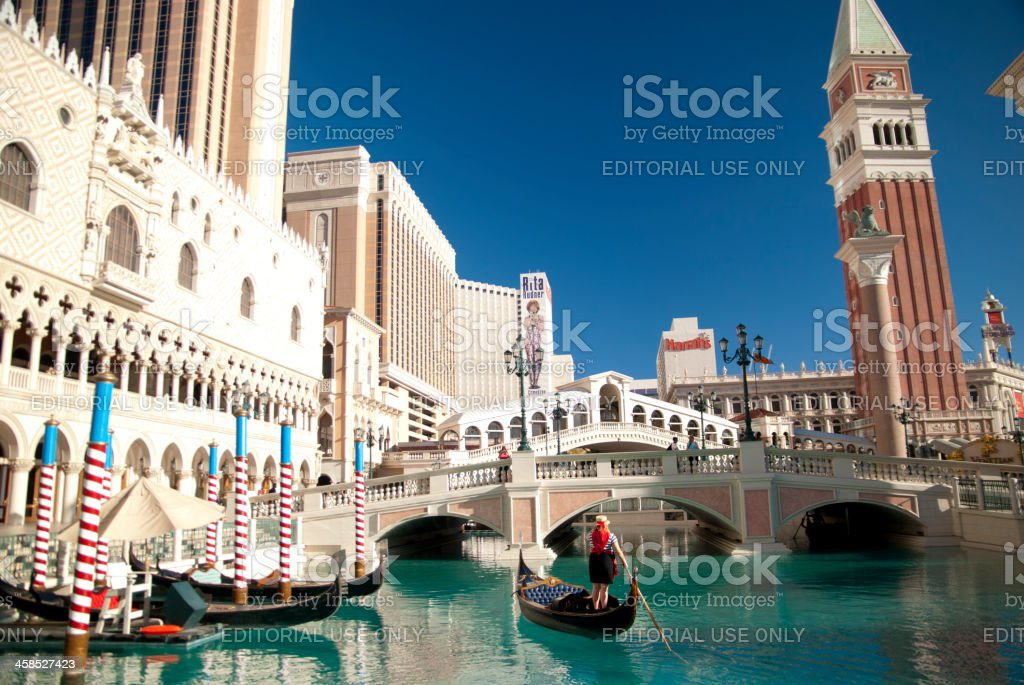 The Venetian Hotel stock photo