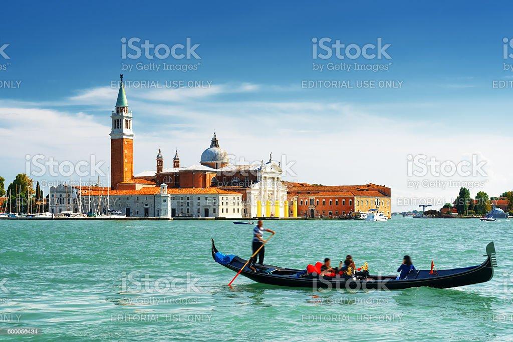 The Venetian Lagoon and the Church of San Giorgio Maggiore stock photo