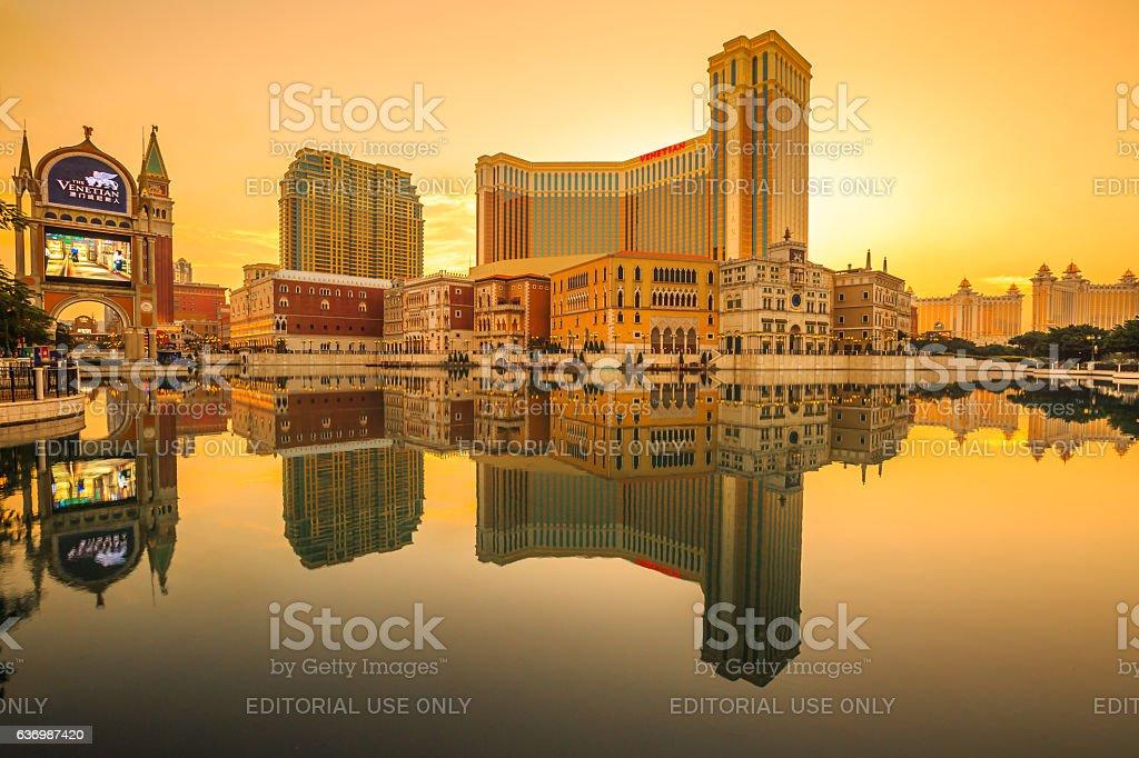 The Venetian Macao Sunset stock photo