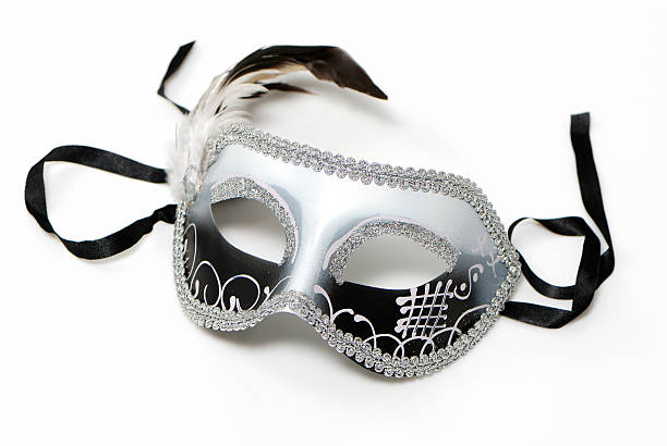 The Venetian mask on a light background stock photo