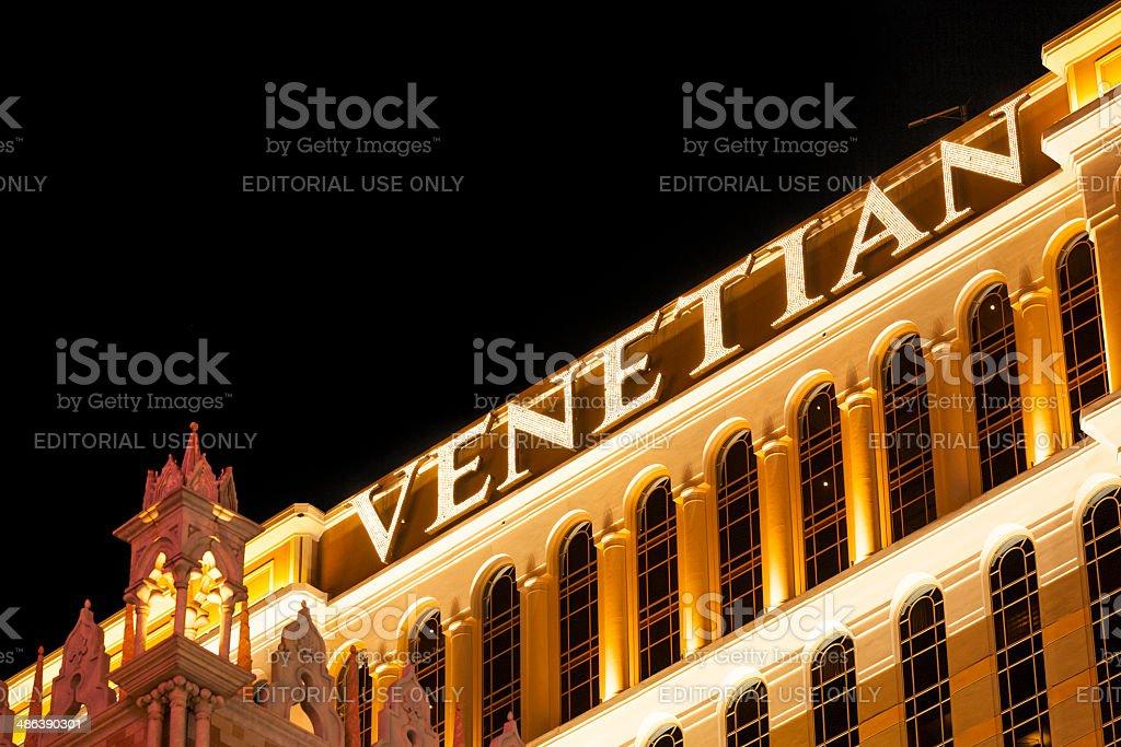 The Venetian Resort Hotel & Casino stock photo