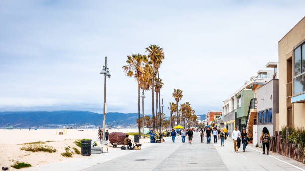 The Venice Beach Boardwalk - LA, California stock photo