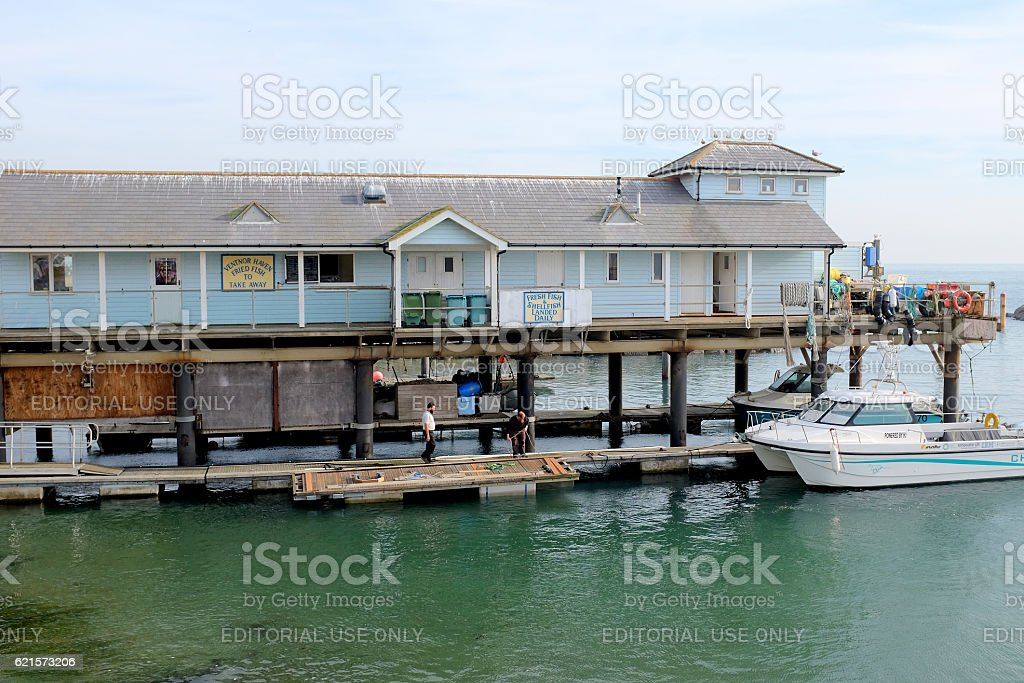 The Ventnor Haven, Isle of Wight. stock photo