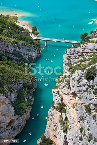 The Verdon gorge, Provence, France. top view