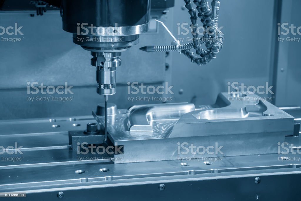 The Vertical Cnc Milling Machine Attach The Cmm Probe In The