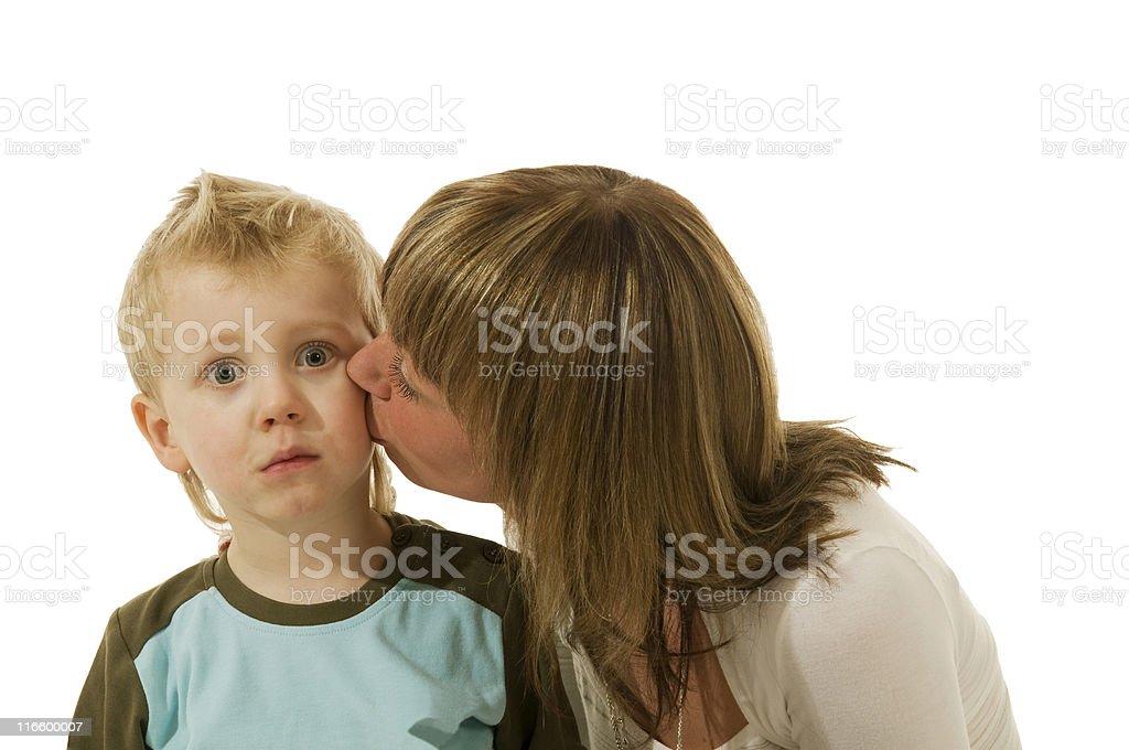 the very surprising kiss stock photo