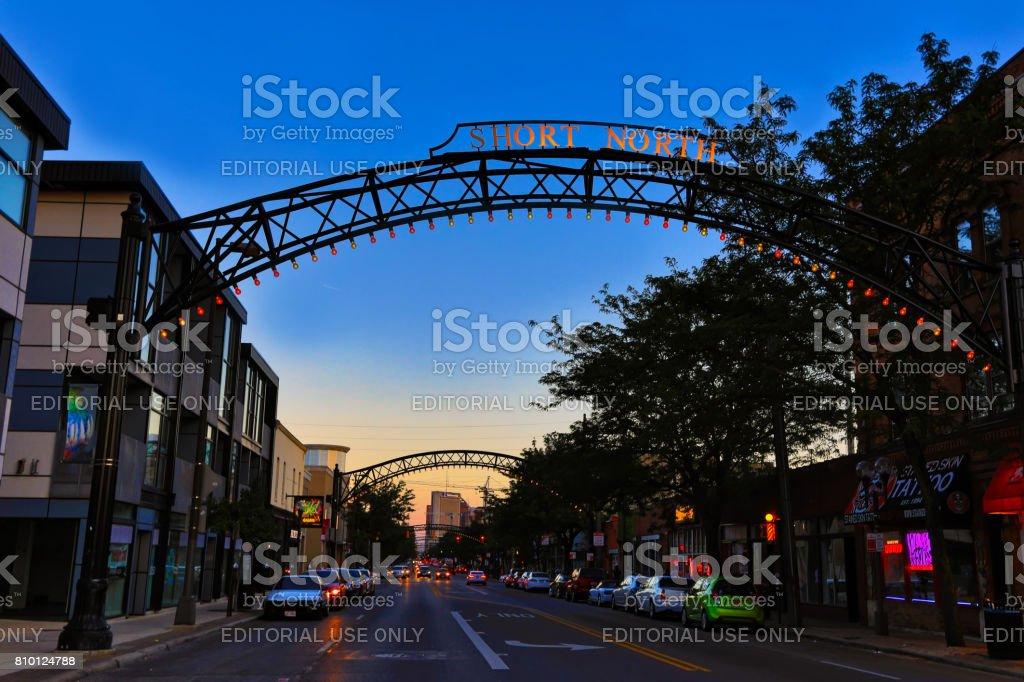 The Vibrant Short North Arts District in Columbus, Ohio stock photo