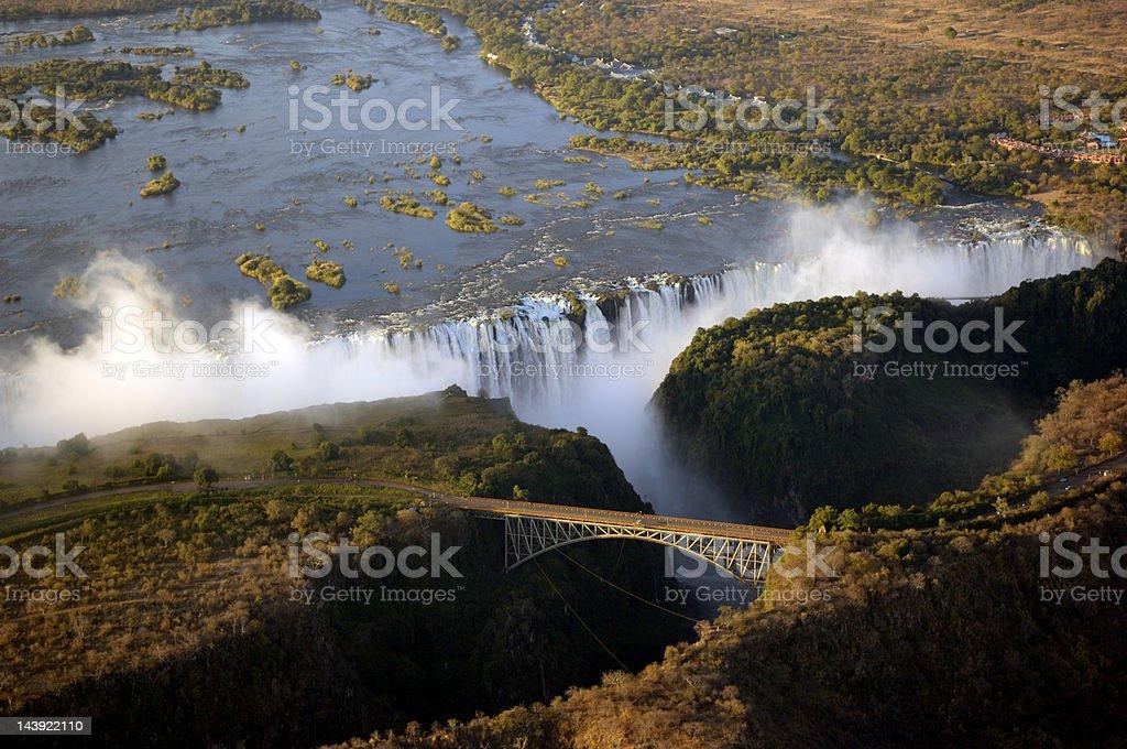 The Victoria Falls stock photo