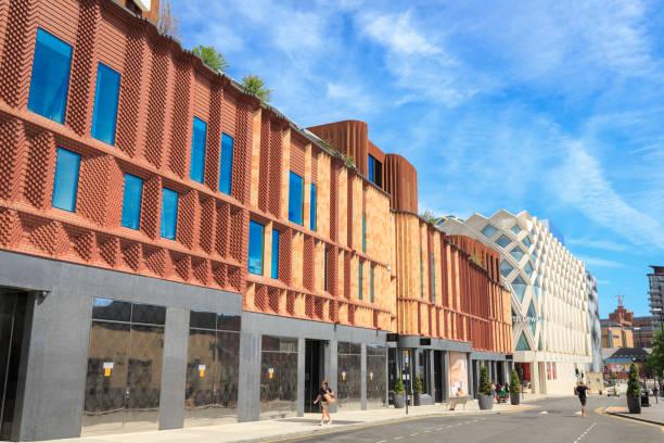 維多利亞門購物中心和約翰路易士商店在里茲 - john lewis 個照片及圖片檔