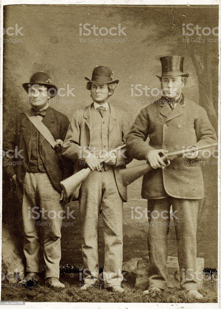 Das Victorian Jagdgesellschaft Männer mit Waffen – Foto
