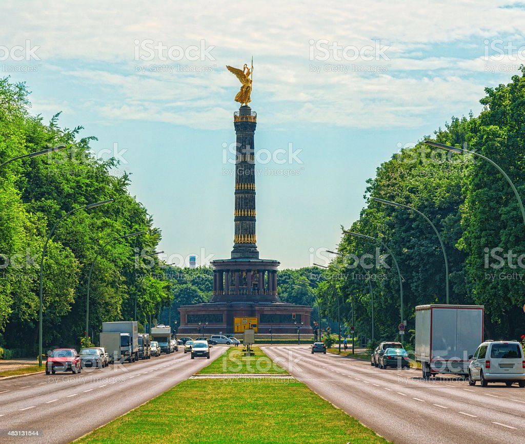 The Victory column, Siegessäule in Berlin, Germany stock photo