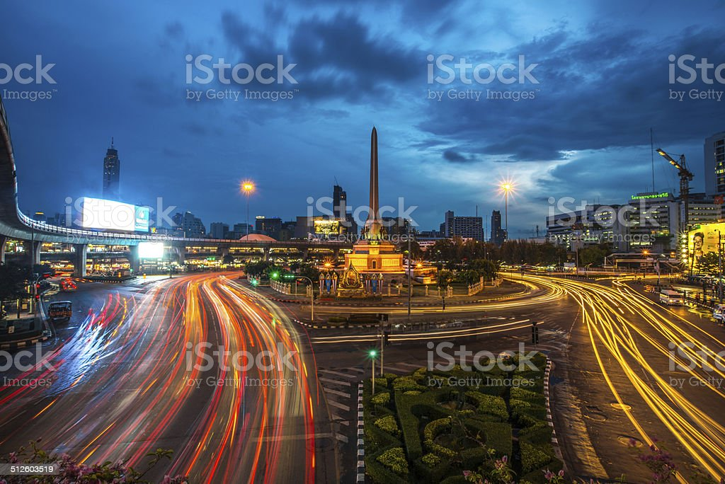 The victory monument in Thailand stock photo