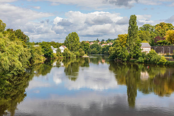 The Vienne River in Limoges. stock photo